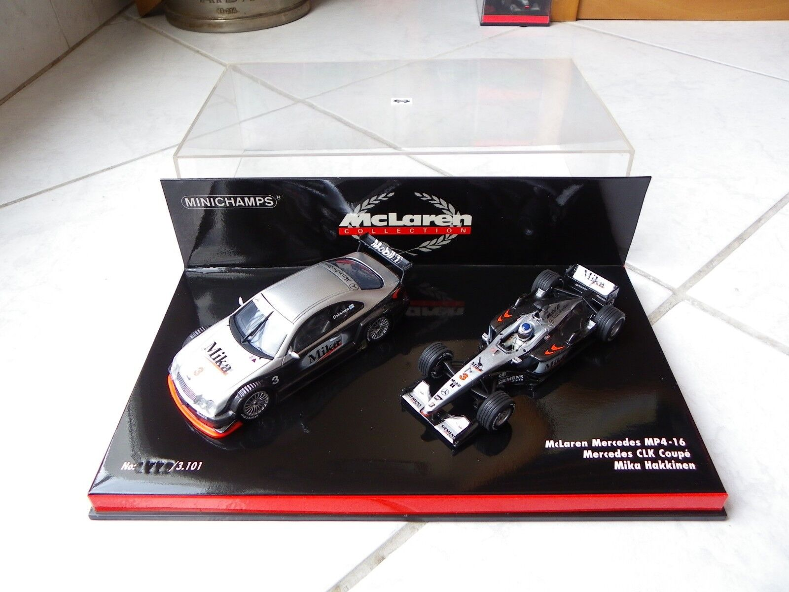 Mclaren Mercedes MP4-16 CLK Coupé Mika  Hakkinen Minichamps 1 43 F1 Set coffret  70% de réduction