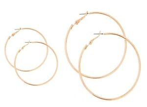Image Is Loading Thin Rose Gold Hoop Earrings Extra Large