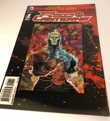 FUTURES END NEW 52 RED LANTERNS #1 3D LENTICULAR COVER NEW NEAR MINT