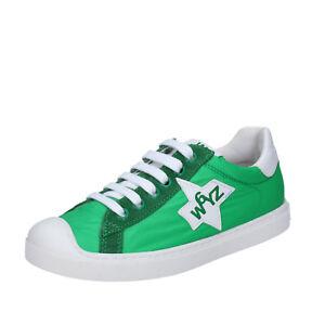 3e1e4e8a0c9b73 Jungen schuhe WIZZ W6YZ 39 EU sneakers Grün textil wildleder BY469 ...