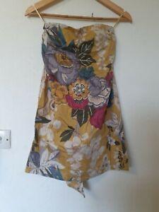Joules-Boutique-Floral-Sin-breteles-Lazo-Detalle-Vestido-Talla-8