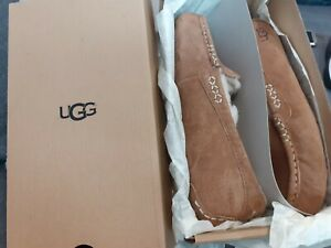 UGG-Moccasin-Slippers-Sz-4-Ansley-Suede-BNIB-Ladies-New-EUR-37