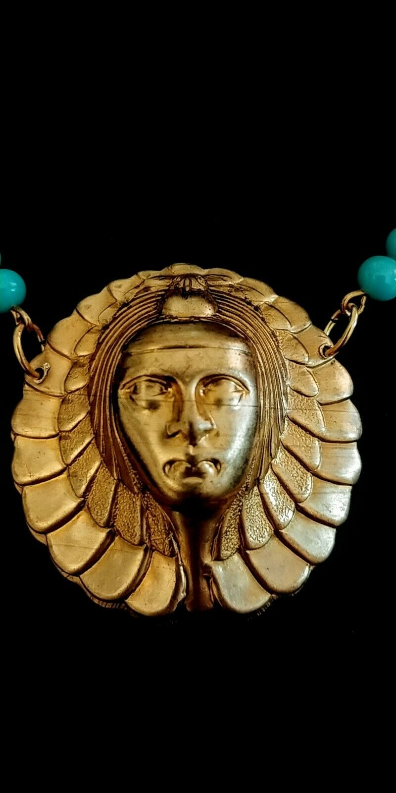 Vintage Egyptian Revival Necklace - image 3