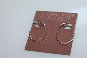 f727d512c67b Image is loading NWT-Argento-Vivo-Earrings-sterling-silver-925-hoops-