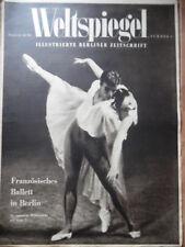WELTSPIEGEL 9 - 1950 Ballett in Berlin Sechstagerennen-Party in Berlin Dänemark