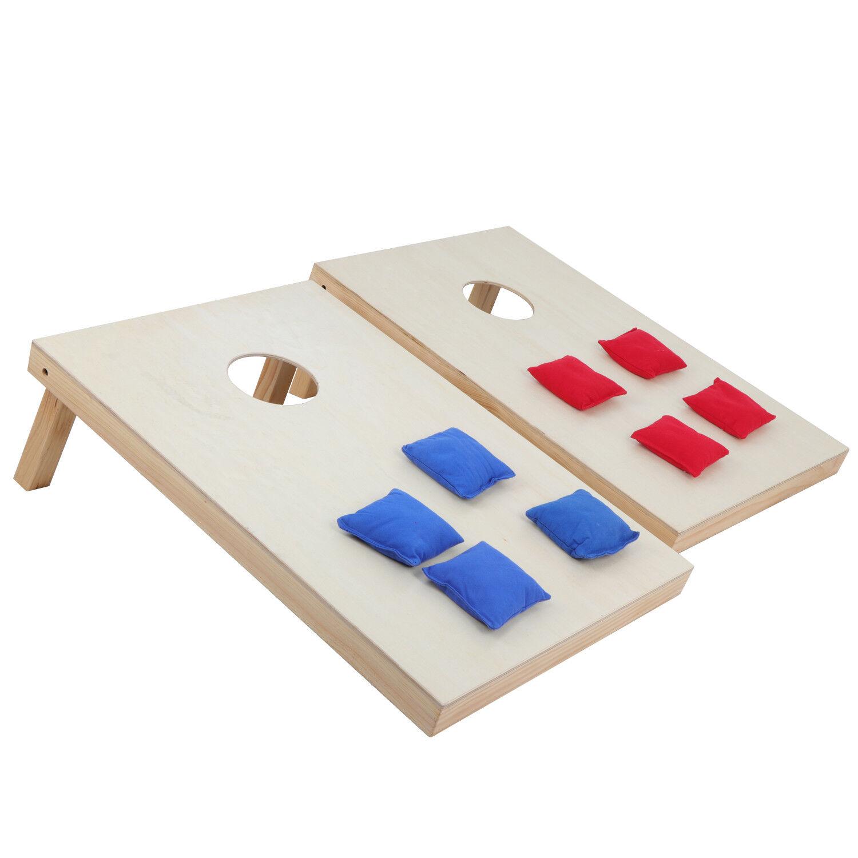 Outdoor Yard Party Game Playset Wooden Bean Bag Toss Cornhole 3 x 2'