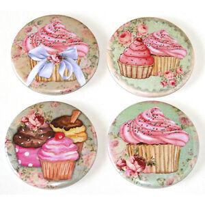 Shabby-Chic-Cupcakes-Fridge-Magnets-Set-55mm-4pc-Pink-Kitchen-Decor-Gift