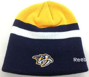 dea39714e41633 Image is loading NHL-Nashville-Predators-Reebok-Winter-Knit-Hat-Beanie-