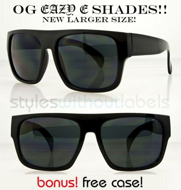 9537651bca NEW XL OG Eazy E Black Locs DARK SMOKE LENS Motorcycle Sunglasses Cholo X  Sports