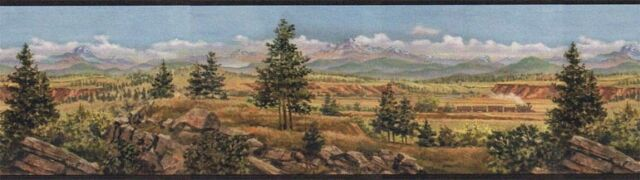 Western Railroad Train Country Wallpaper Border El49020b