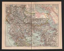 Landkarte map 1909: Europäische Türkei. Türkisches Reich Schwarzes Meer