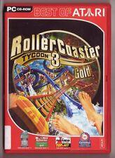 Rollercoaster Tycoon 3 Gold Freizeitpark Wasserpark + ADDON Soaked PC Spiel