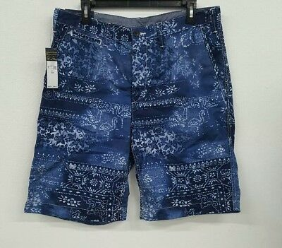 Men's Nwt85 Relaxed Moroccan Lauren Shorts Polo Ralph Floral Blue DHIE2W9beY