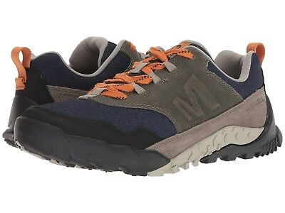 NEW Mens Merrell Annex Recruit Brindle Brown Leather Textile Hiking Shoes