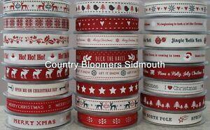 Largest range Berisfords Christmas Ribbons ~ 2018 Range ~ 1 or 3 Metres & Rolls