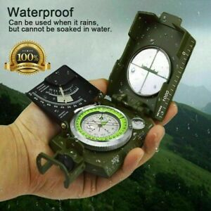 Professional Pocket Military Army Compass Geological For Sighting Hiking Camping