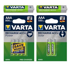 Varta-Power-Akkus-Accus-AAA-Micro-550mAh-800mAh-HR03-fuer-u-A-Gigaset-Telefon