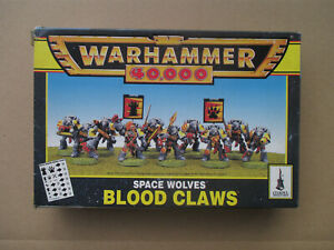 D10C06-SPACE-WOLF-BLOOD-CLAWS-WARHAMMER-40000-1996-OPENED-USED-INCOMPLET