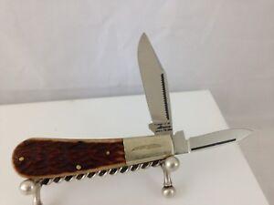 PARKER-CUT-CO-VINTAGE-2-BLADE-JACK-STYLE-POCKET-KNIFE-SURGICAL-STEEL-JAPAN-RARE