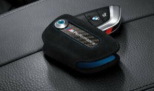 Originale BMW M Performance Astuccio Portachiavi Carbonio/Alcantara 82292355519