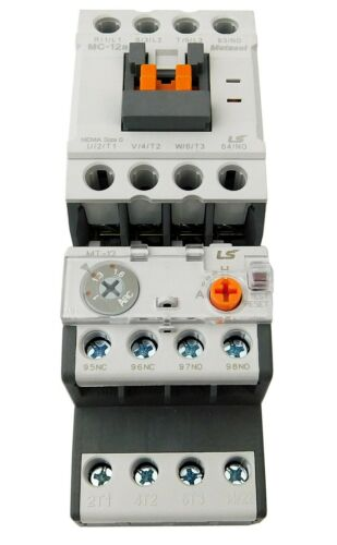 Motor Starter LSis 5 HP @ 460 480V 5-8 Amp Overload 120 Volt Coil Nema Size 0