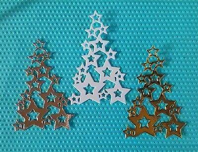 6 x Stanzteile Weihnachten Kartenaufleger Kartenschmuck Scrapbooking Basteln