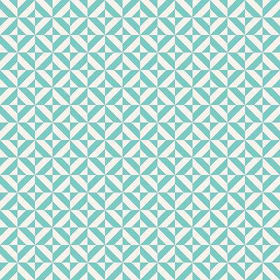 Fun & Games Geometric Aqua, Lori Whitlock for Riley Blake, 1/2 yd cotton fabric