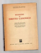 nozioni di diritto canonico - vincenzo del giudice -  1970