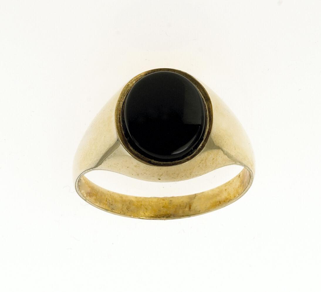 Onyx Anello Uomo Solido con sigillo 9 9 9 KT oro Giallo Anello Di Fidanzamento Matrimonio Gents d0f127