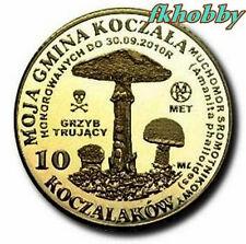 Polonia 2010 coins 10 Kocz. Muchomor Toadstool Mushroom Pilze Champignons
