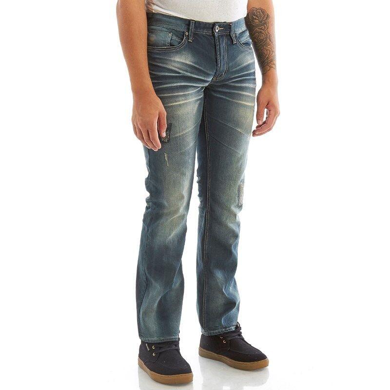 BNWT Buffalo Six-X Slim Fit Straight Leg Stretch Men's Jeans 30 31 33 34 38