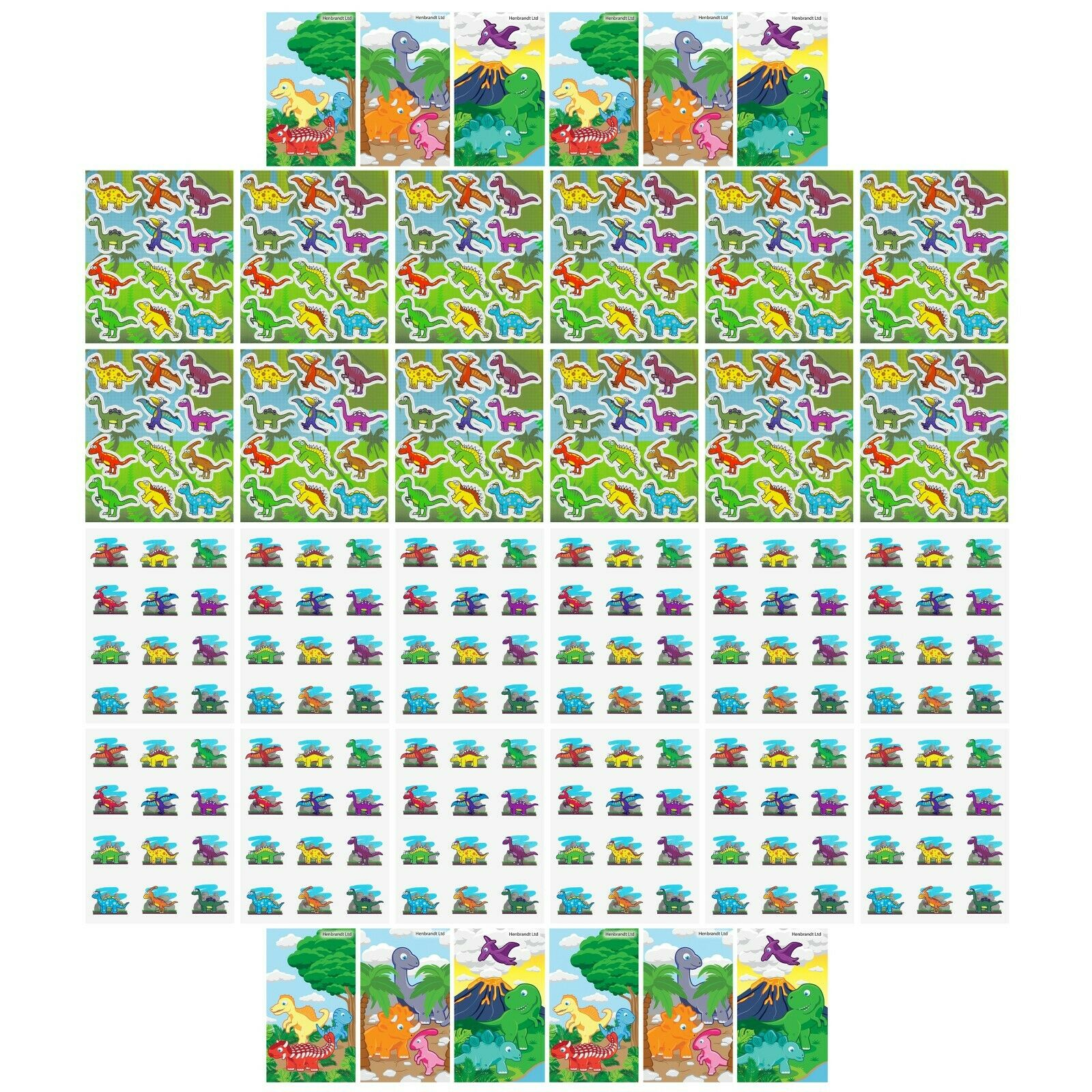 Party Loot Bag Fillers Dinosaur Notepads Pack of 12