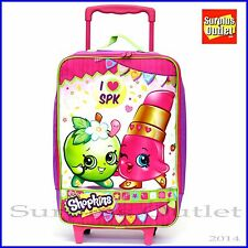 "Shopkins 16"" Pilot Rolling Case Rollers Luggage Travel Suite Case Trolley Bag"