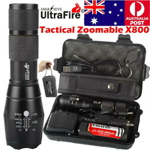 Ultrafire Tactical 10000LM 18650 Flashlight T6 High Powered 5 Modes Mount Switch