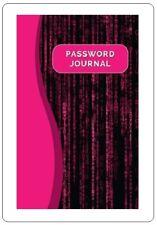Pink Black Large Print Internet Password Book Keeper Website Journal Login