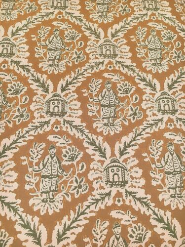 Vintage Wallpaper Chinoiserie Oriental Gold /& Green by Motif