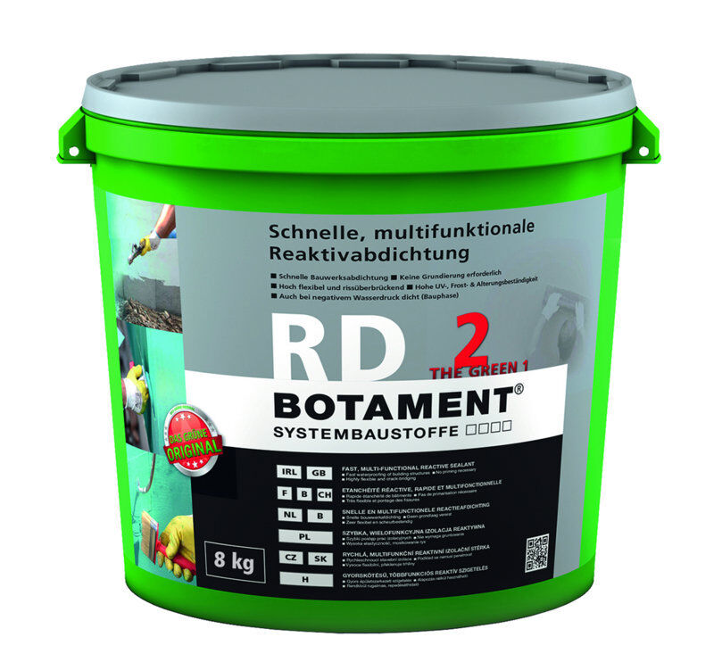 BOTAMENT RD 2 multifunktionale Reaktivabdichtung 8kg Bauwerksabdichtung 2K