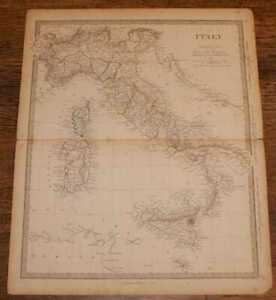 Map-of-Italy-incl-Sicily-Malta-Sardinia-Corsica-etc-sheet-from-1857-Atlas