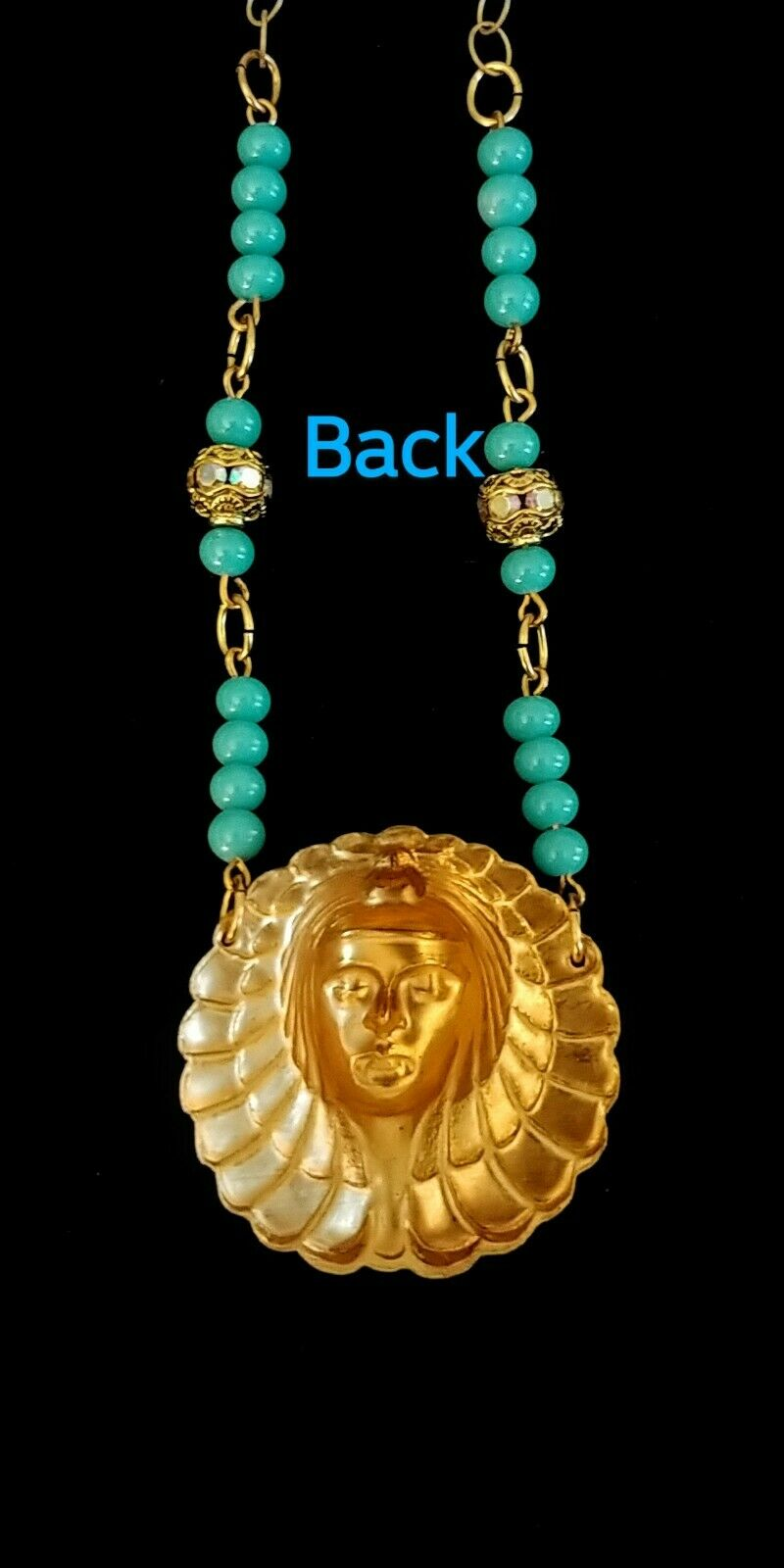 Vintage Egyptian Revival Necklace - image 4