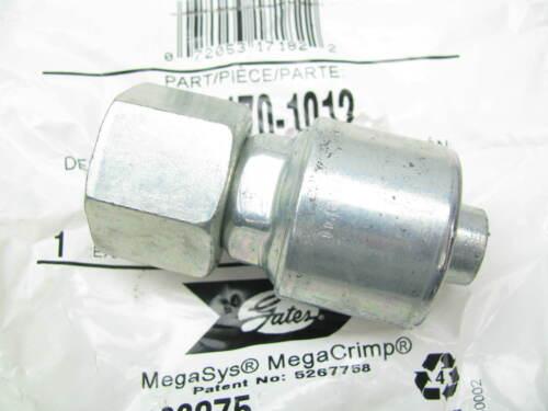 Gates G25170-1012 Female JIC 37 Flare Swivel Straight Fitting 5//8 Hose 1-1//16-12