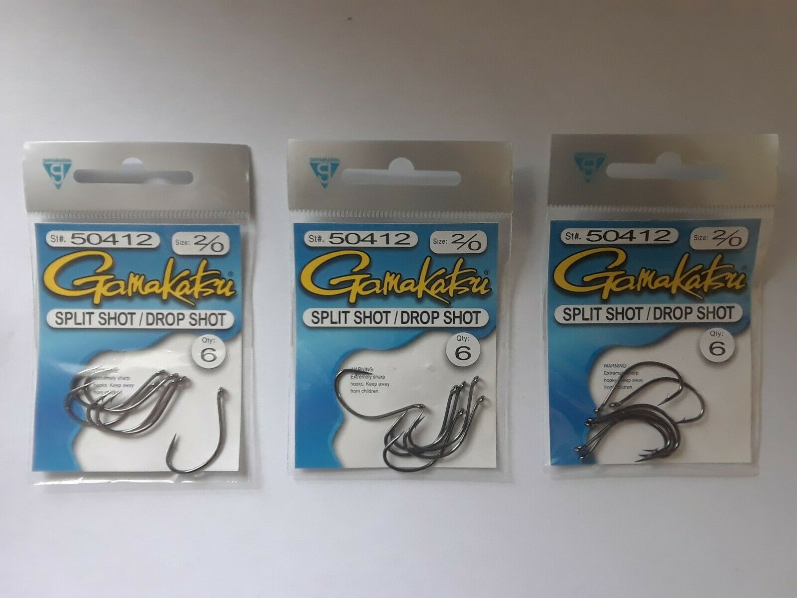 Gamakatsu 220/20 Split Shot/drop Shot 52041220 Fishing Hooks for sale ...