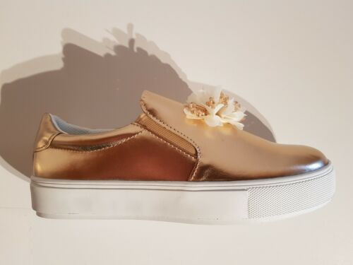 Bruno Banani Femmes Pantoufles Chaussures Basses Plateforme Couleur Rosegold Taille 39-40-41 NEUF