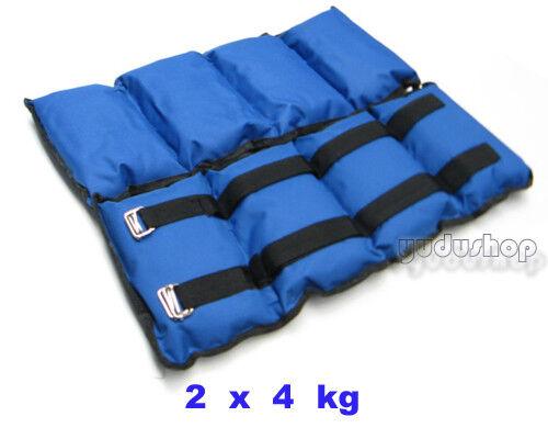 2 x 4,00 kg  Gewichtsmanschetten  Arm - und Fußgewichte  | Überlegen