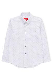 NEW-Fred-Bracks-White-Ground-Navy-Print-LS-Shirt