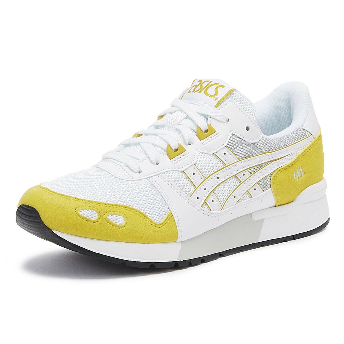 ASICS Gel-Lyte Mens White   Mustard Trainers Sport Casual Lace Up Running shoes