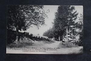Tarjeta-postal-antigua-ST-BONNET-LE-FROID-La-Forma-de-Romana-Lyon-a-Clermont