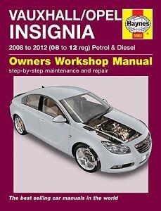 Haynes-Manual-Vauxhall-Insignia-Opel-Insignia-2008-2012-5563-NUEVO