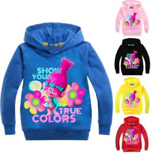 Kids Boys Girls Trolls SweatShirt Hoodies Tops Cartoon Print Casual Clothes