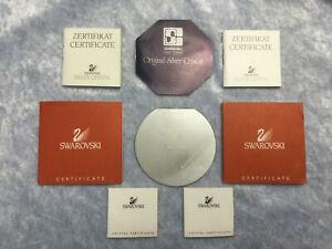 Swarovski Set of 8 Swarovski certificates