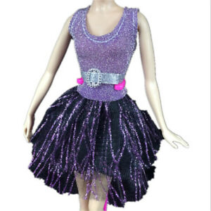 Handmade-Dress-Wedding-Party-Mini-Gown-Fashion-Clothes-For-Dolls-RR